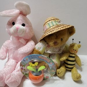 Other - 🐇🐝🌼🧸 Bunny, bear, bee, and solar flower set